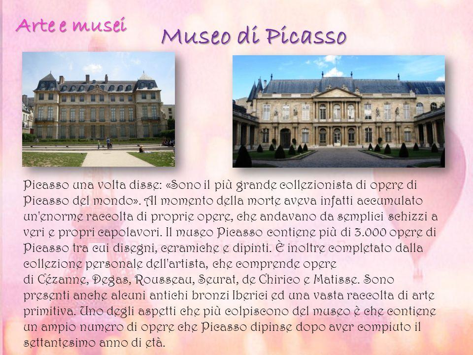Museo di Picasso Picasso una volta disse: «Sono il più grande collezionista di opere di Picasso del mondo». Al momento della morte aveva infatti accum