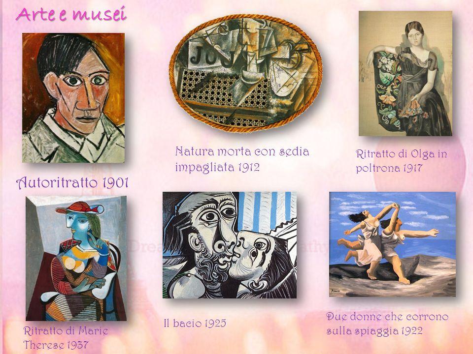 Autoritratto 1901 Natura morta con sedia impagliata 1912 Ritratto di Olga in poltrona 1917 Ritratto di Marie Therese 1937 Il bacio 1925 Due donne che