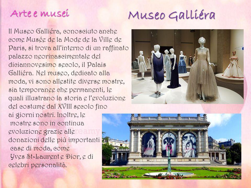 Museo Galliéra Il Museo Galliéra, conosciuto anche come Musée de la Mode de la Ville de Paris, si trova all'interno di un raffinato palazzo neorinasci