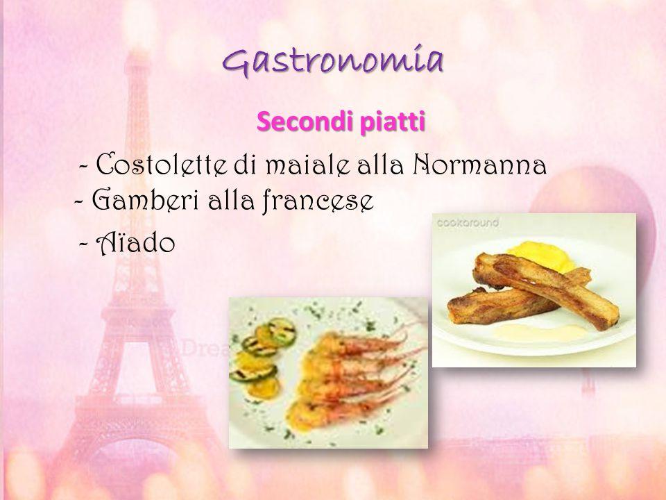 Gastronomia Secondi piatti Secondi piatti - Costolette di maiale alla Normanna - Gamberi alla francese - Aïado