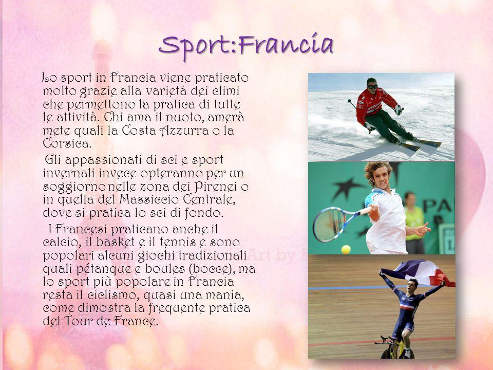 Lo sport in Francia viene praticato molto grazie alla varietà dei climi che permettono la pratica di tutte le attività. Chi ama il nuoto, amerà mete q