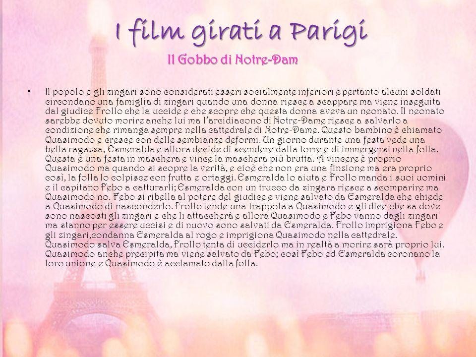 I film girati a Parigi I l popolo e gli zingari sono considerati esseri socialmente inferiori e pertanto alcuni soldati circondano una famiglia di zin