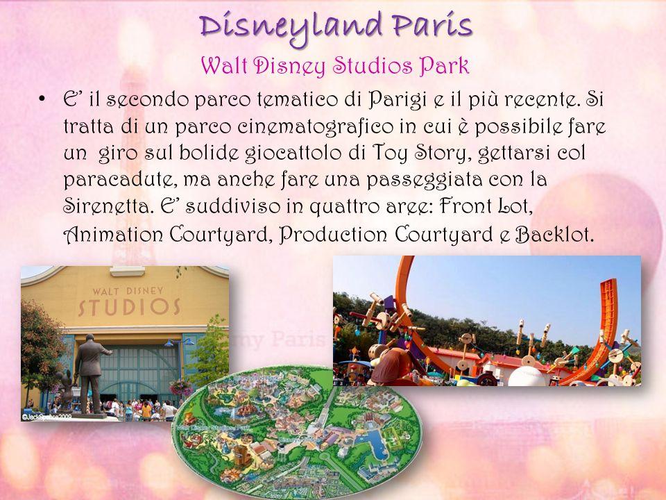 Disneyland Paris Walt Disney Studios Park E' il secondo parco tematico di Parigi e il più recente. Si tratta di un parco cinematografico in cui è poss