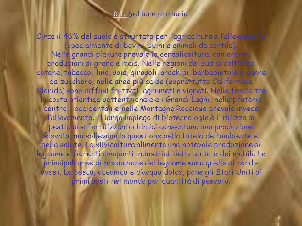 6.1. 6.1. Settore primario Circa il 46% del suolo è sfruttato per l'agricoltura e l'allevamento (specialmente di bovini, suini e animali da cortile).