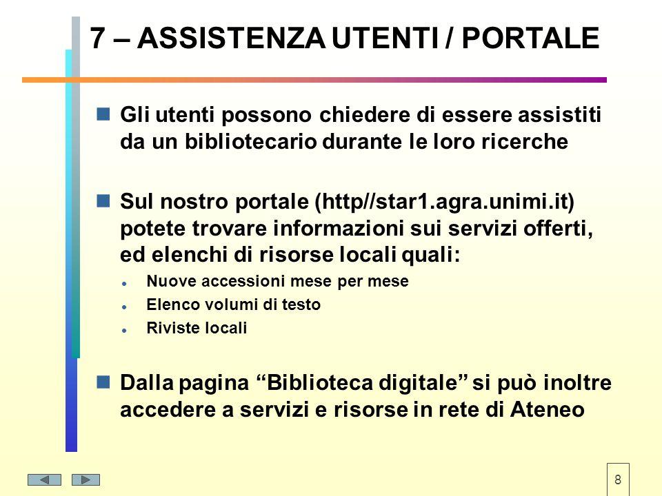 9 8 – RISORSE E SERVIZI IN RETE Cataloghi (ad es.
