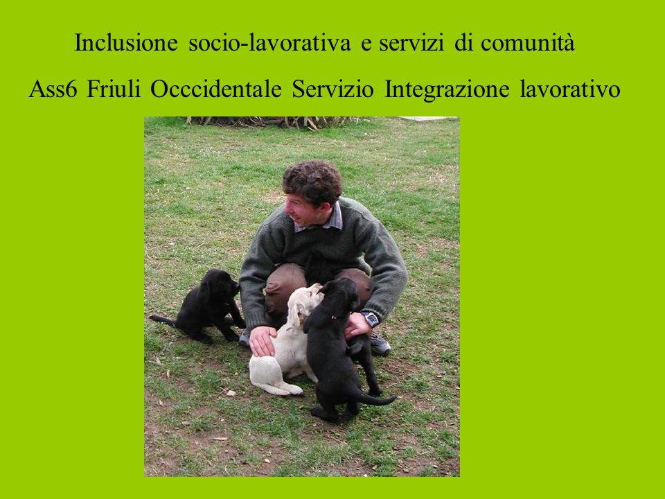 Inclusione socio-lavorativa e servizi di comunità Ass6 Friuli Occcidentale Servizio Integrazione lavorativo