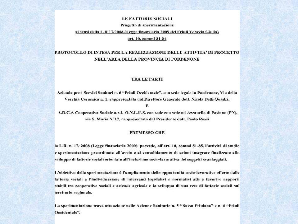 FATTORIE DIDATTICHE E SOCIALI Regolamento di approvazione di criteri e modalità in applicazione dell'articolo 23 della legge regionale 04 giugno 2004, n.