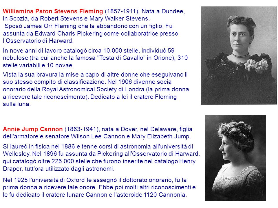 Williamina Paton Stevens Fleming (1857-1911), Nata a Dundee, in Scozia, da Robert Stevens e Mary Walker Stevens. Sposò James Orr Fleming che la abband