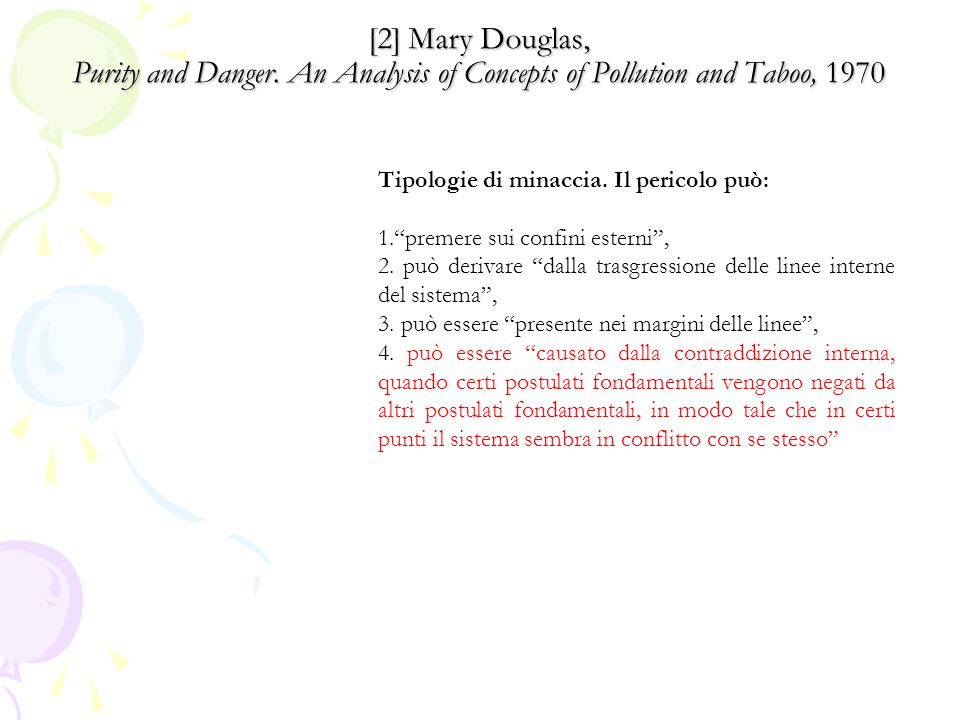 [2] Mary Douglas, Purity and Danger.
