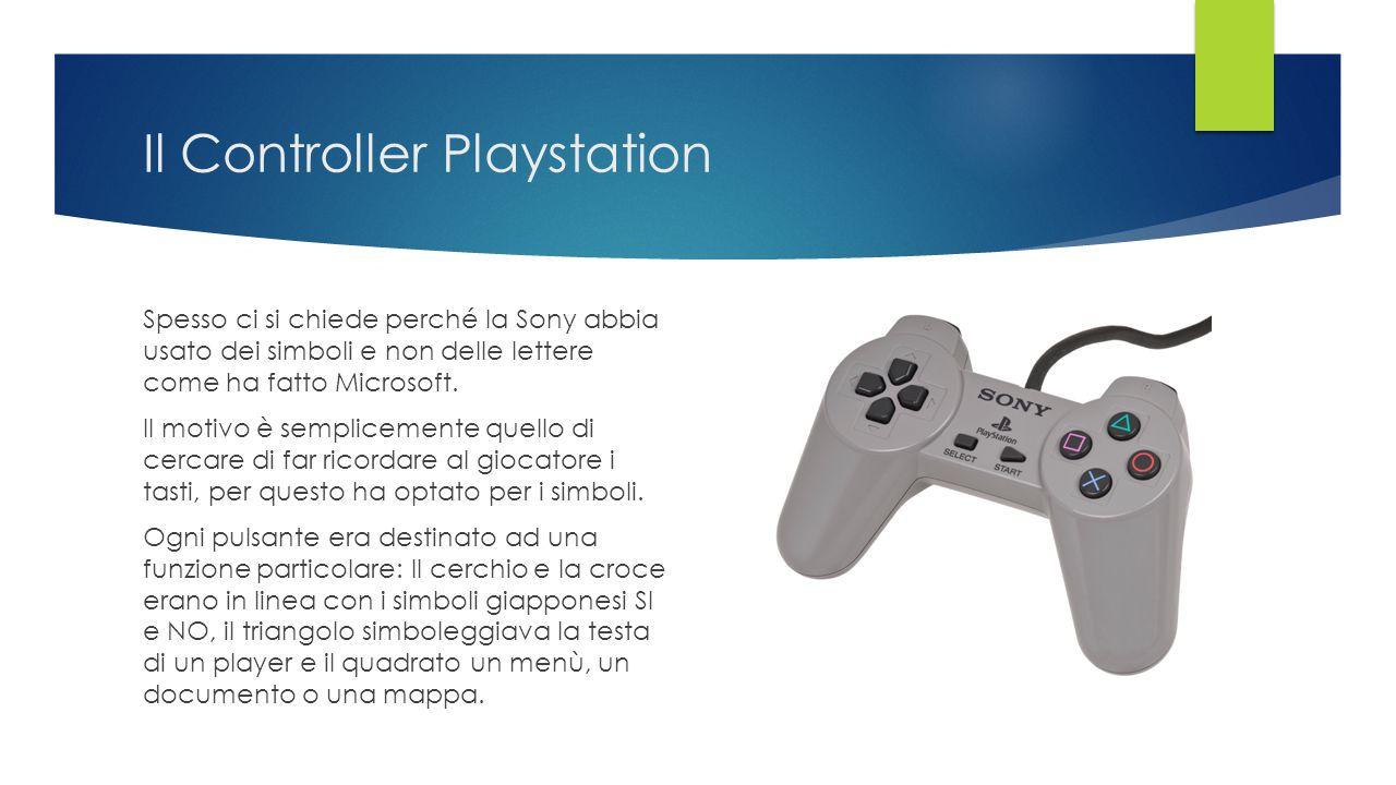 Il Controller Playstation Spesso ci si chiede perché la Sony abbia usato dei simboli e non delle lettere come ha fatto Microsoft. Il motivo è semplice