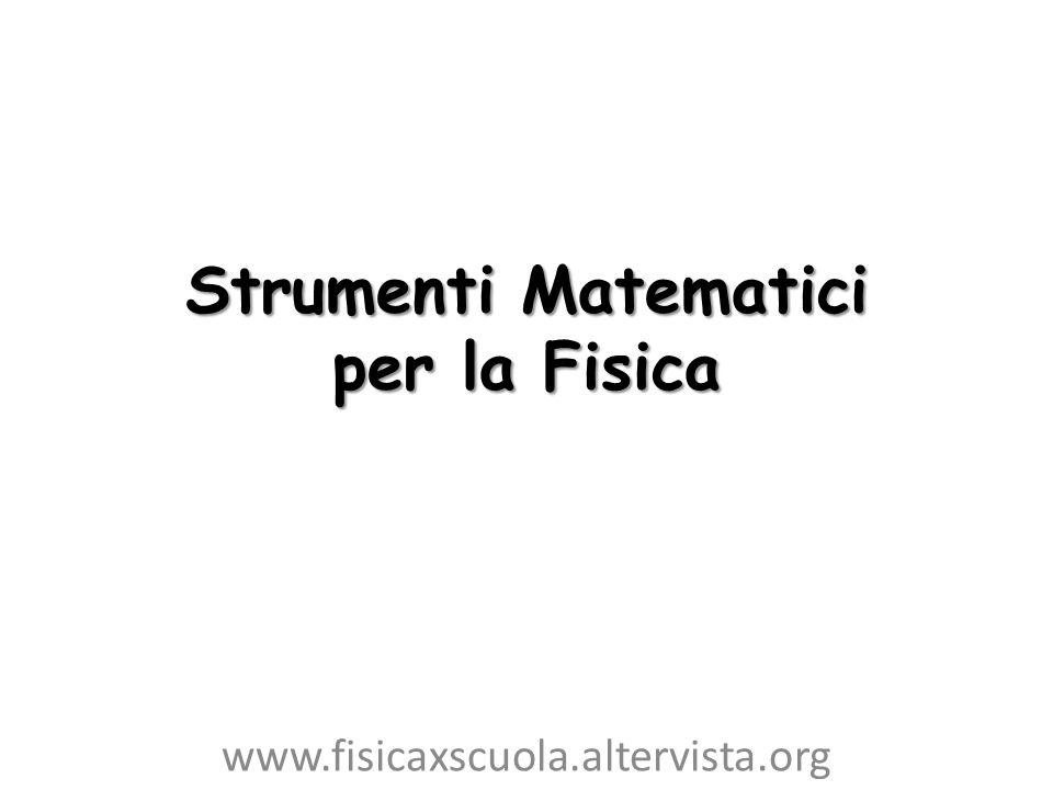 Strumenti Matematici per la Fisica www.fisicaxscuola.altervista.org