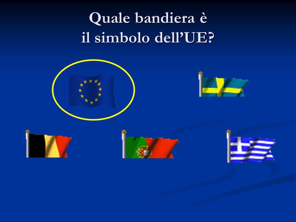 Quale bandiera è il simbolo dell'UE?
