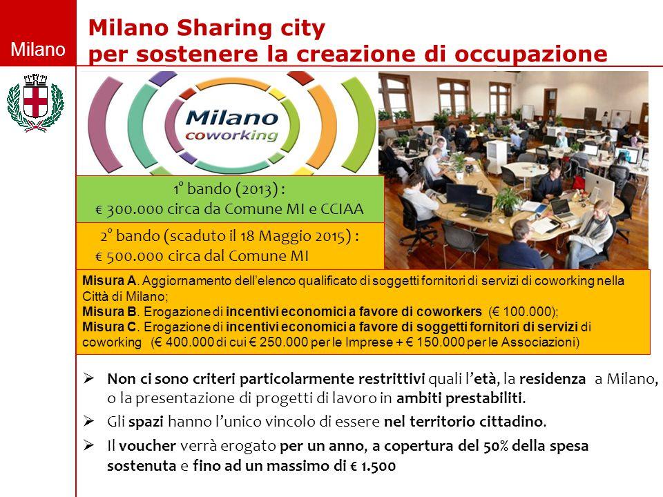 Milano  Non ci sono criteri particolarmente restrittivi quali l'età, la residenza a Milano, o la presentazione di progetti di lavoro in ambiti presta