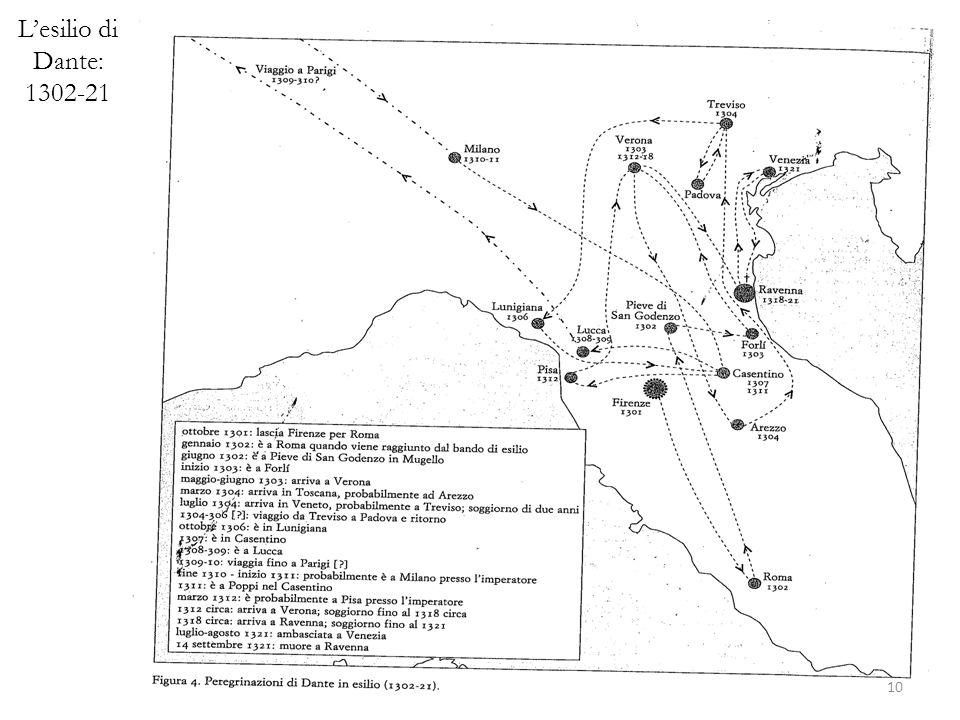 L'esilio di Dante: 1302-21 10