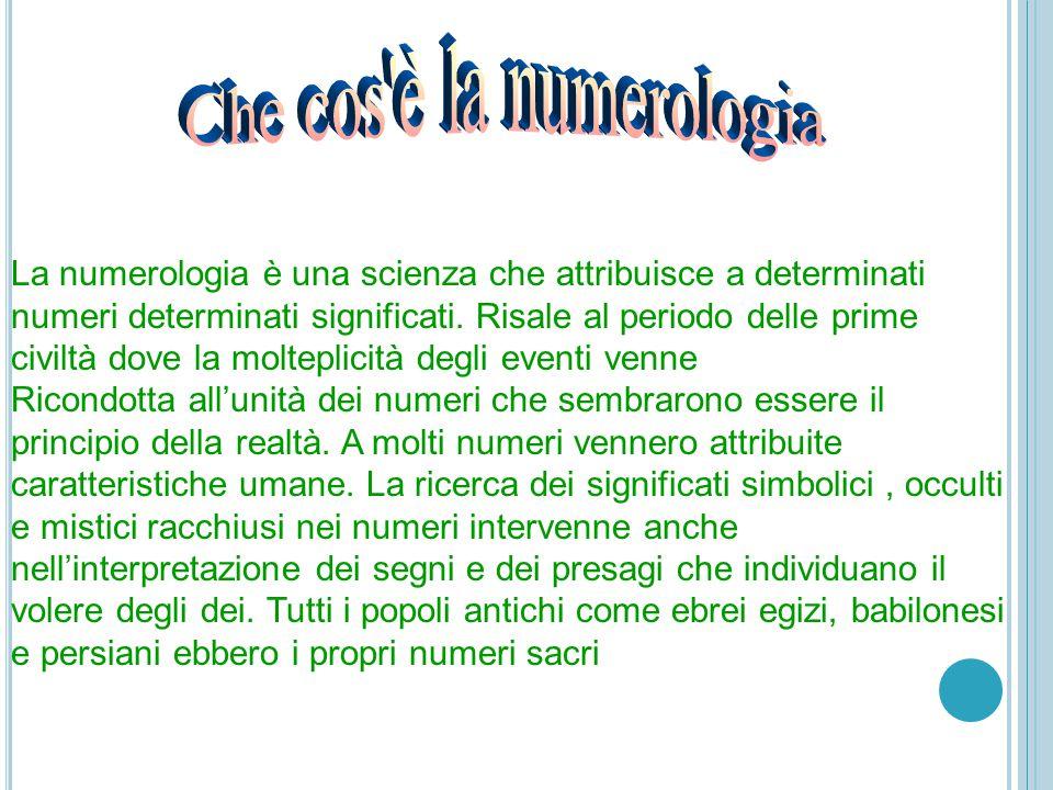 La numerologia è una scienza che attribuisce a determinati numeri determinati significati.