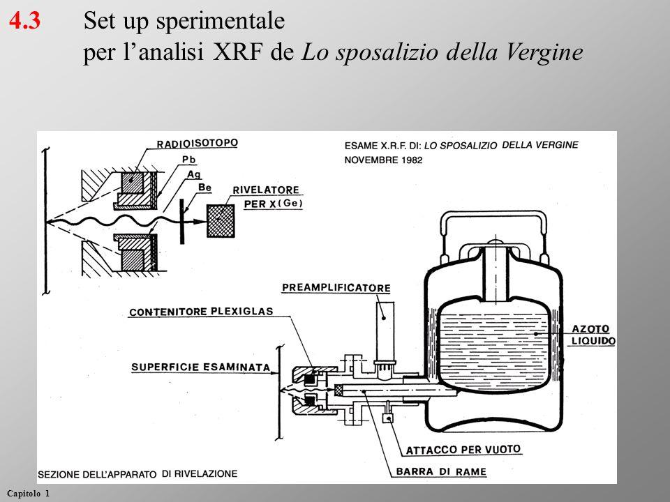 Set up sperimentale per l'analisi XRF de Lo sposalizio della Vergine 4.3 Capitolo 1