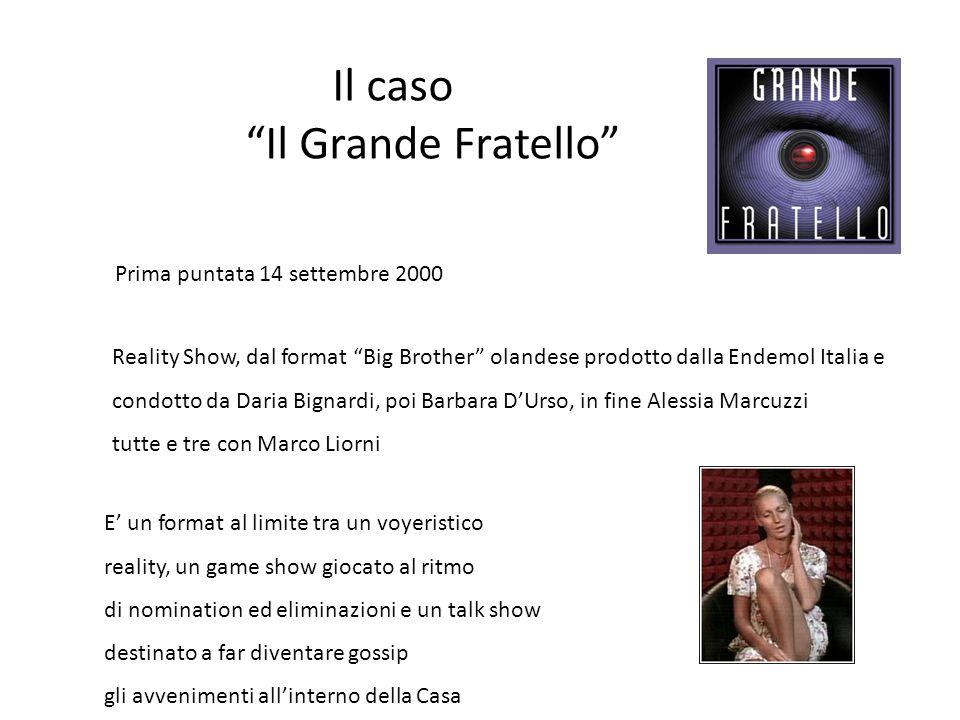 """Il caso """"Il Grande Fratello"""" Prima puntata 14 settembre 2000 Reality Show, dal format """"Big Brother"""" olandese prodotto dalla Endemol Italia e condotto"""