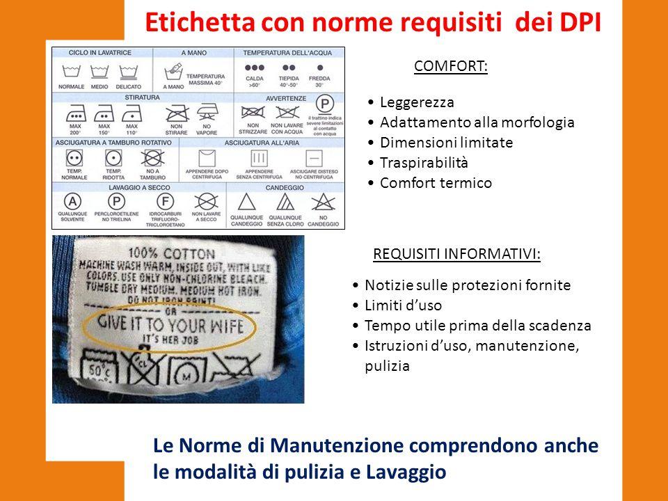 Le Norme di Manutenzione comprendono anche le modalità di pulizia e Lavaggio COMFORT: Leggerezza Adattamento alla morfologia Dimensioni limitate Trasp