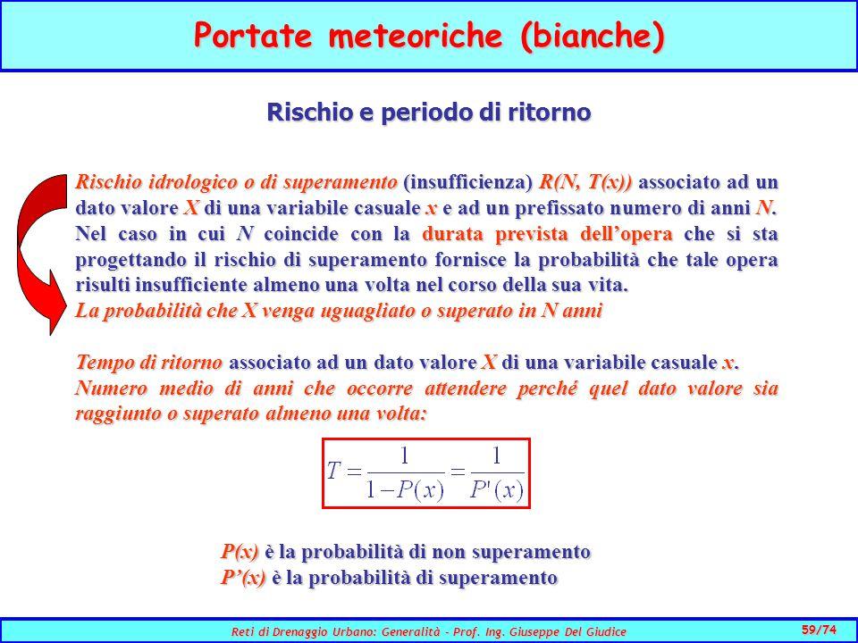 59/74 Reti di Drenaggio Urbano: Generalità - Prof.