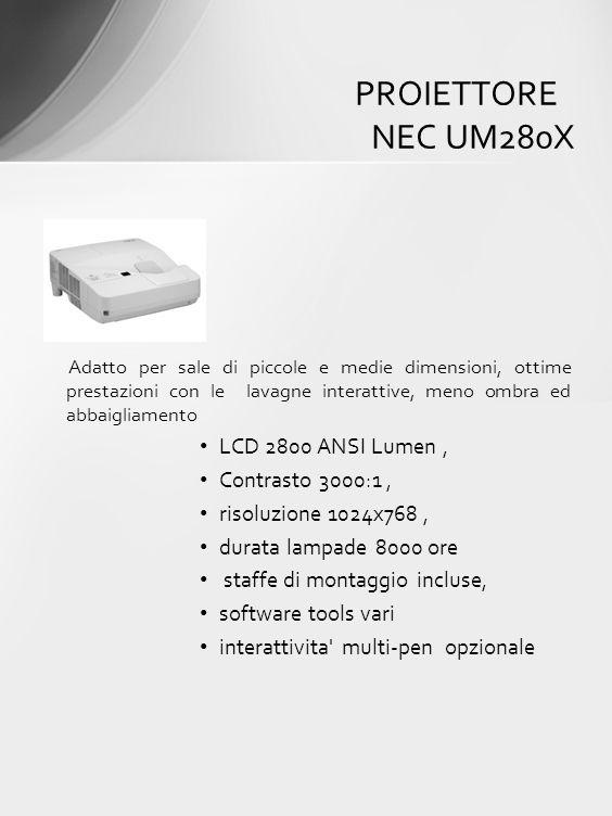 Adatto per sale di piccole e medie dimensioni, ottime prestazioni con le lavagne interattive, meno ombra ed abbaigliamento LCD 2800 ANSI Lumen, Contra