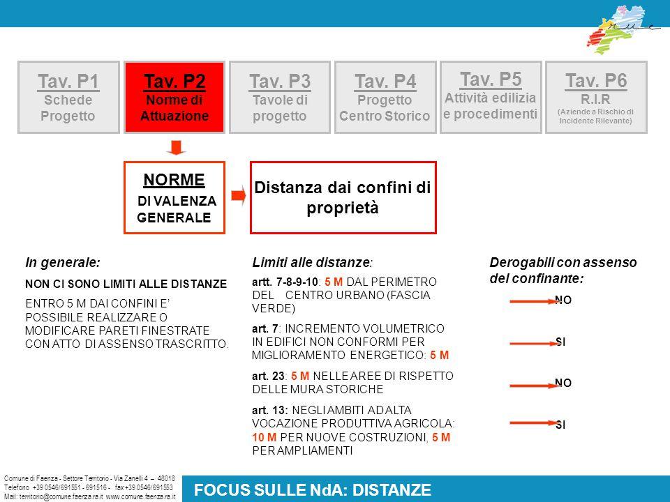 Tav. P2 Norme di Attuazione Comune di Faenza - Settore Territorio - Via Zanelli 4 – 48018 Telefono +39 0546/691551 - 691516 - fax +39 0546/691553 Mail