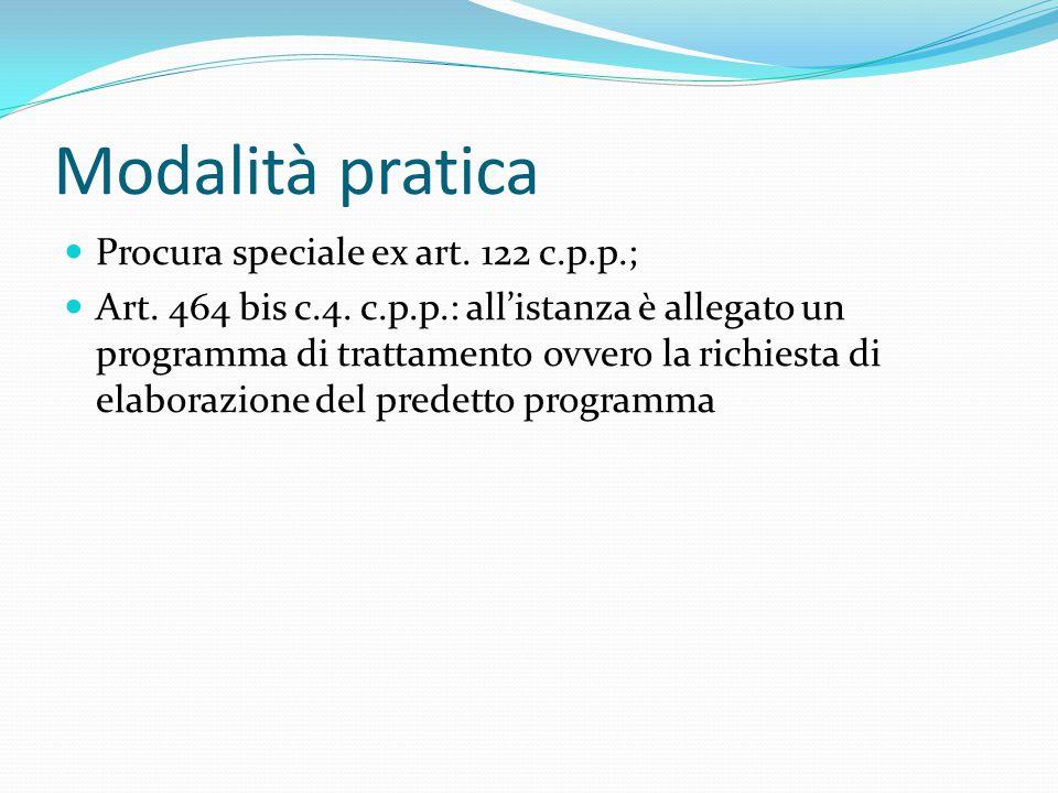 Modalità pratica Procura speciale ex art.122 c.p.p.; Art.