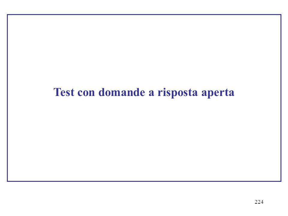 224 Test con domande a risposta aperta