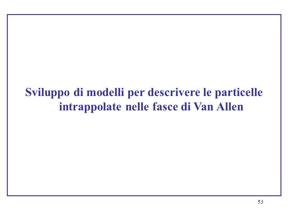 53 Sviluppo di modelli per descrivere le particelle intrappolate nelle fasce di Van Allen