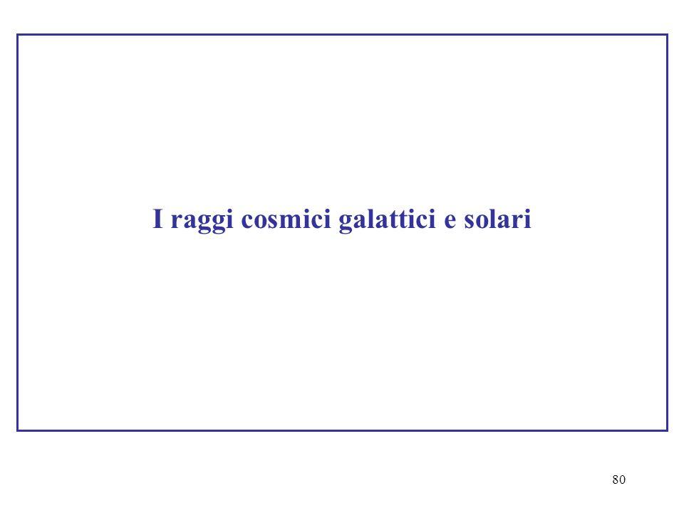 80 I raggi cosmici galattici e solari