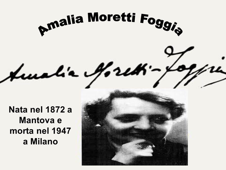 Nata nel 1872 a Mantova e morta nel 1947 a Milano