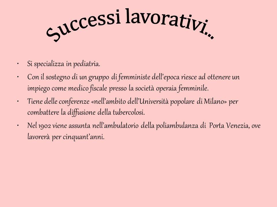 Amalia Moretti Foggia si laurea in scienze all'università di Padova.