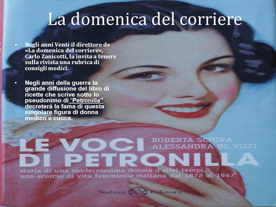 Negli anni Venti il direttore de «La domenica del corriere», Carlo Zanicotti, la invita a tenere sulla rivista una rubrica di consigli medici. Negli a