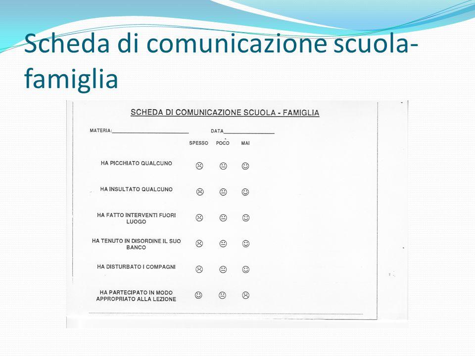 Scheda di comunicazione scuola- famiglia