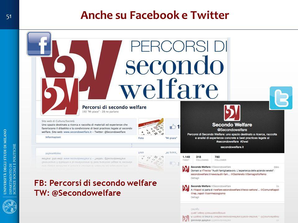 Anche su Facebook e Twitter FB: Percorsi di secondo welfare TW: @Secondowelfare 51