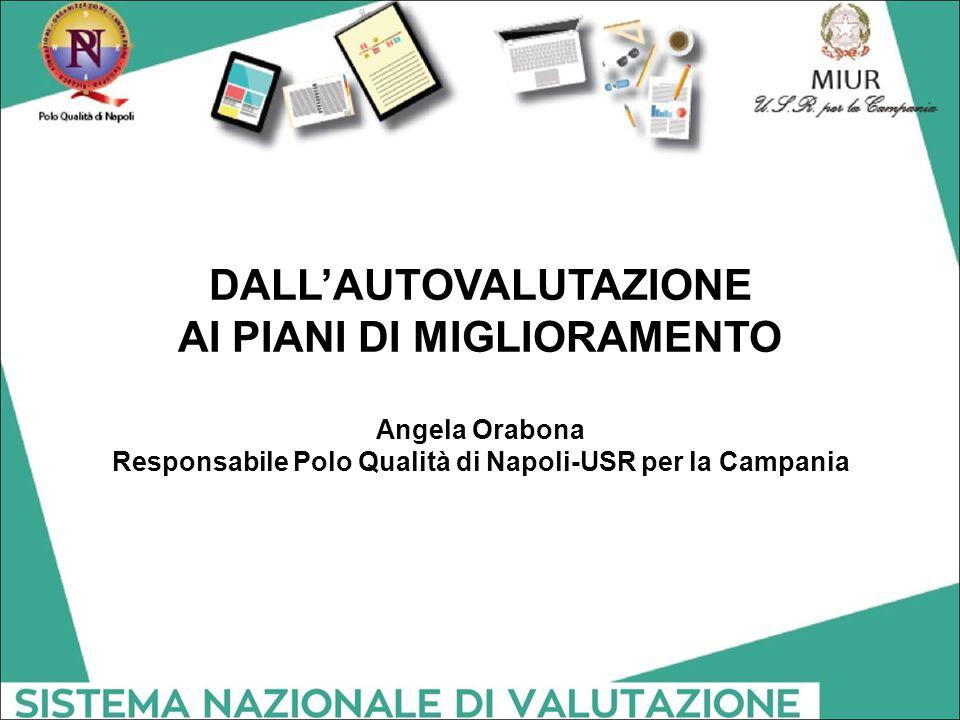 DALL'AUTOVALUTAZIONE AI PIANI DI MIGLIORAMENTO Angela Orabona Responsabile Polo Qualità di Napoli-USR per la Campania