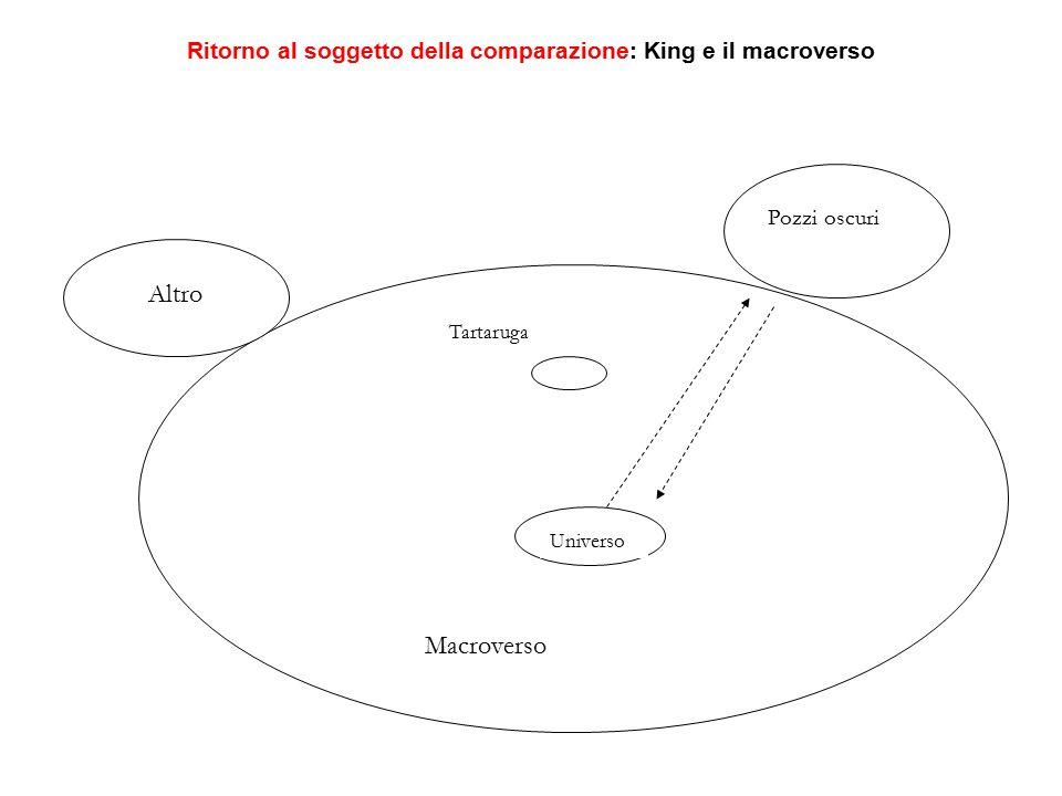 Universo Macroverso Pozzi oscuri Altro Tartaruga Ritorno al soggetto della comparazione: King e il macroverso