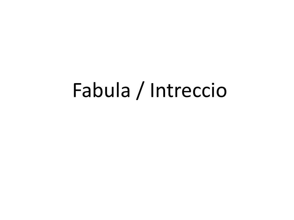 Fabula / Intreccio