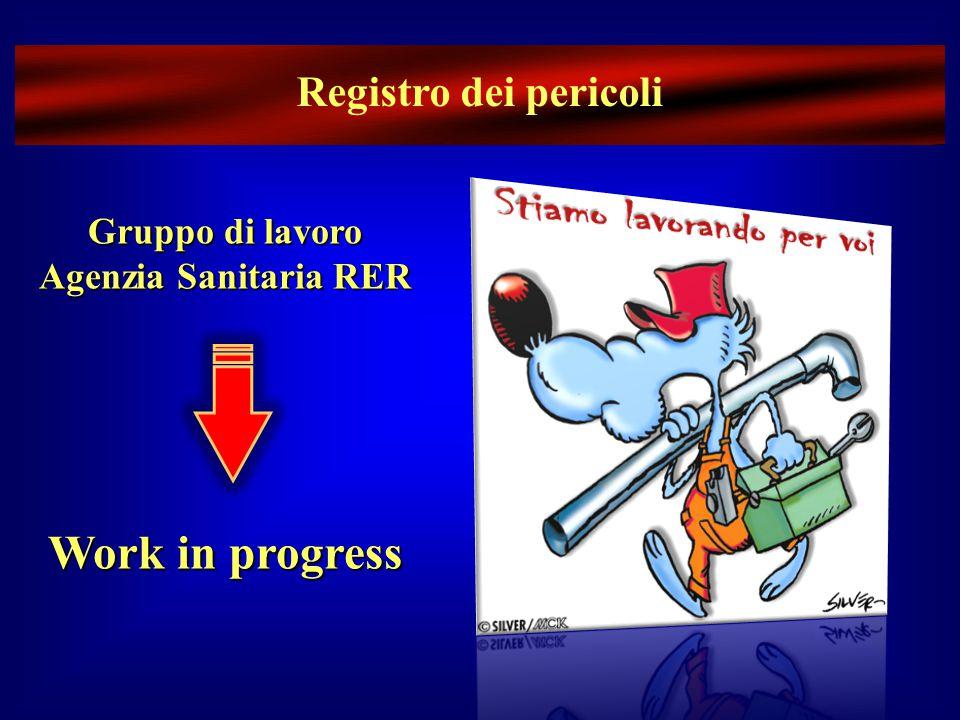Registro dei pericoli Gruppo di lavoro Agenzia Sanitaria RER Work in progress