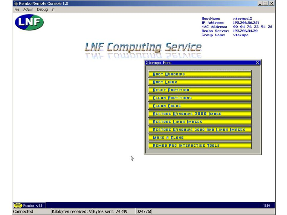 7 maggio 2002Servizio di Calcolo dei LNF40