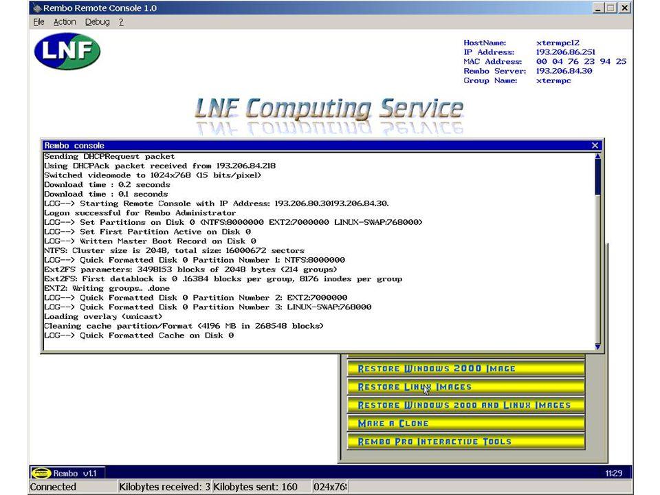 7 maggio 2002Servizio di Calcolo dei LNF44