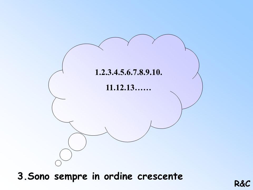2. In questo insieme non ci sono numeri decimali e frazioni: N Z Q R N=N.Naturali; Z=N.Relativi; Q=N.Razionali; R=N.Reali. R&C