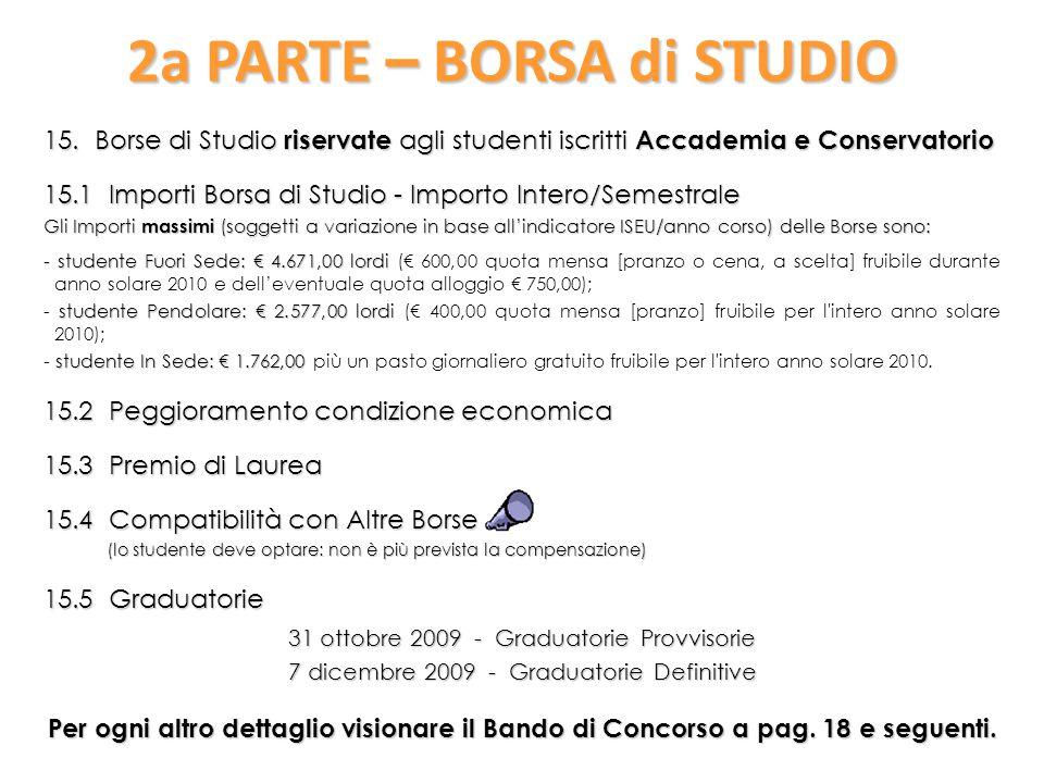 2a PARTE – BORSA di STUDIO 15.