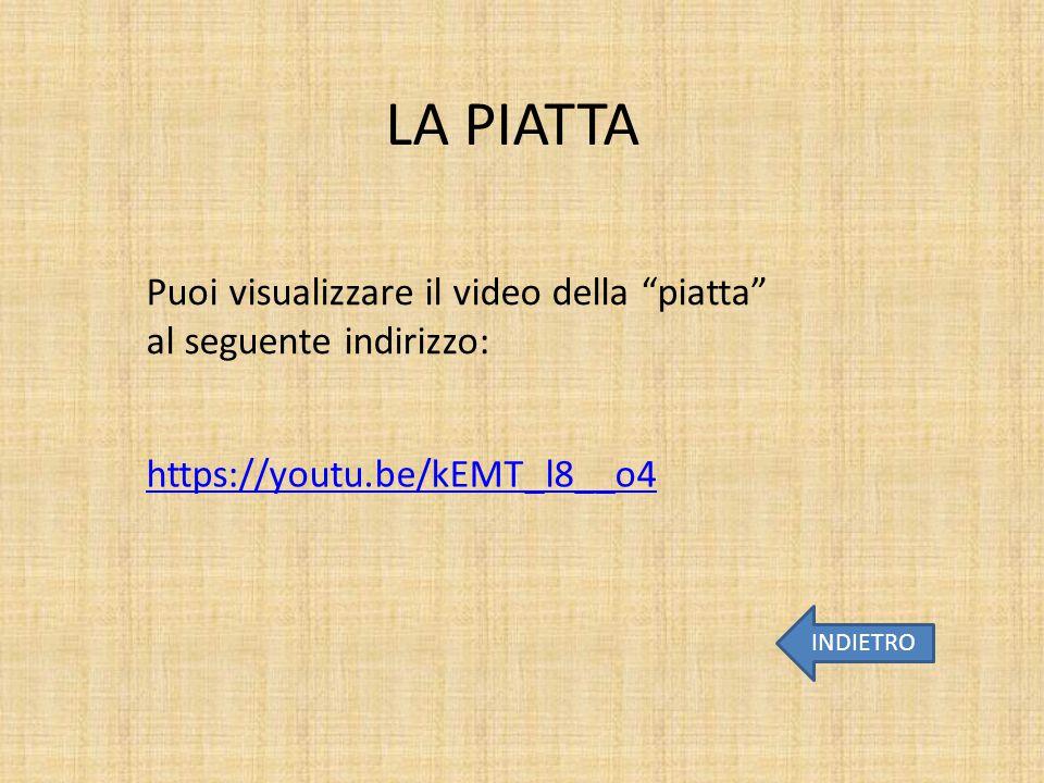"""LA PIATTA INDIETRO https://youtu.be/kEMT_l8__o4 Puoi visualizzare il video della """"piatta"""" al seguente indirizzo:"""
