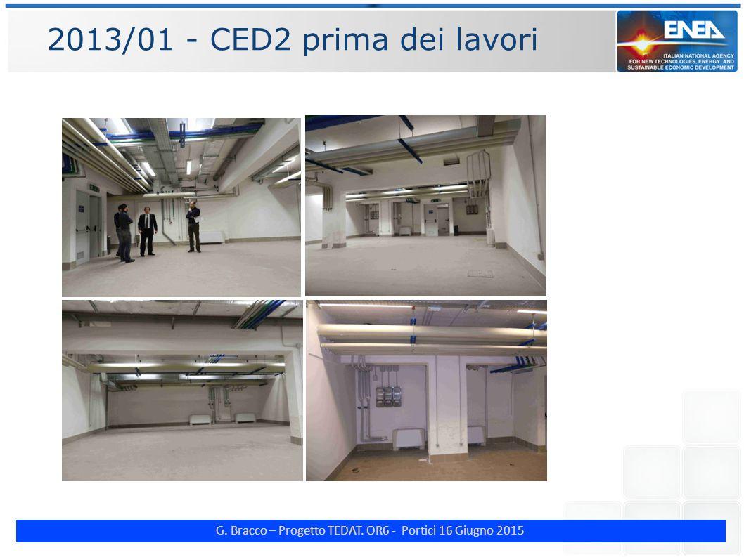 G. Bracco – Progetto TEDAT. OR6 - Portici 16 Giugno 2015 2013/01 - CED2 prima dei lavori