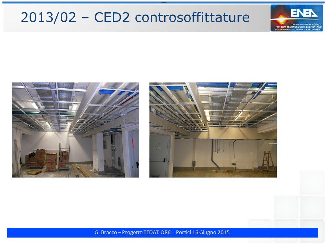 G. Bracco – Progetto TEDAT. OR6 - Portici 16 Giugno 2015 2013/02 – CED2 controsoffittature