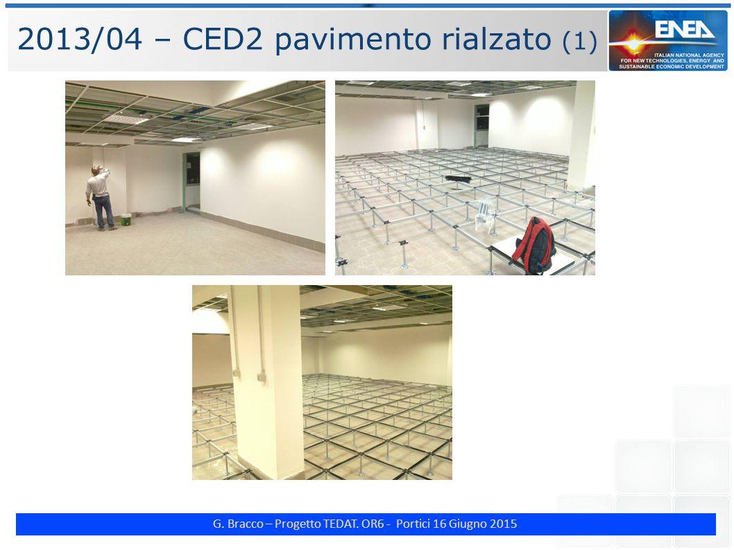 G. Bracco – Progetto TEDAT. OR6 - Portici 16 Giugno 2015 2013/04 – CED2 pavimento rialzato (1)