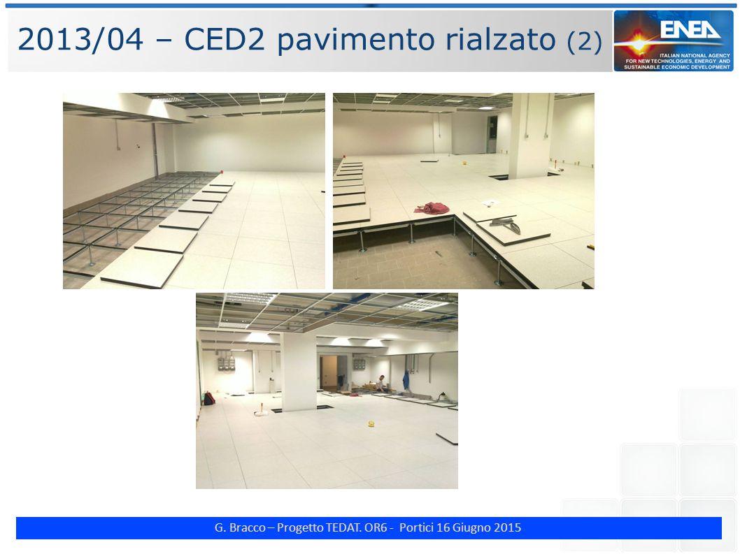 G. Bracco – Progetto TEDAT. OR6 - Portici 16 Giugno 2015 2013/04 – CED2 pavimento rialzato (2)