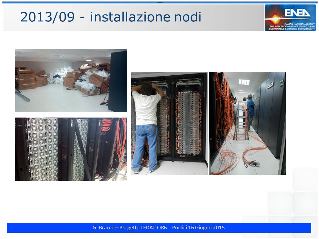 G. Bracco – Progetto TEDAT. OR6 - Portici 16 Giugno 2015 2013/09 - installazione nodi