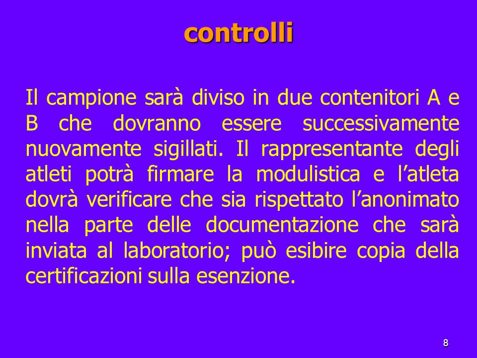 19 Le leggi antidoping in Italia Nel 1981 (legge n.