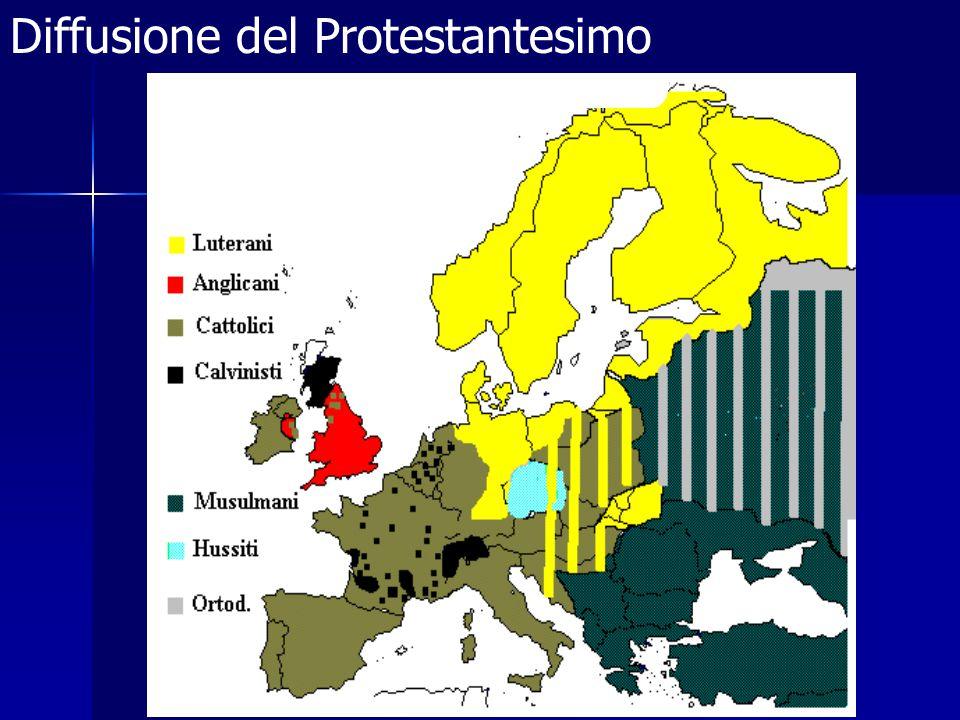 I protestanti in Francia La forma che si diffuse maggiormente fu il calvinismo che nel 1561 aveva oltre 2000 chiese in F.